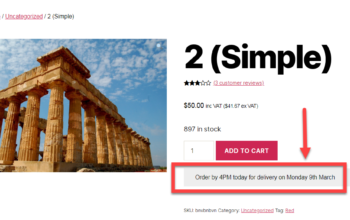 woocommerce dispatch orderby shipping estimate date