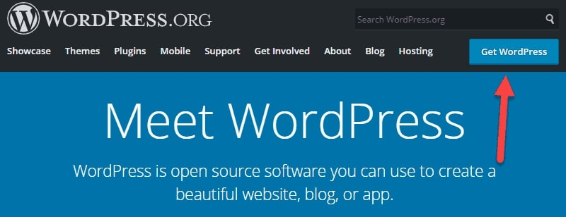 Image showing steps to Install WordPress