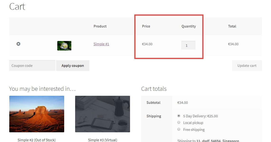 Image showing WooCommerce Quantity based pricing for particular item