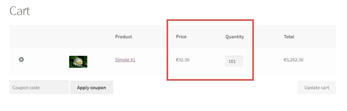 Image showing WooCommerce discounted bulk item pricing