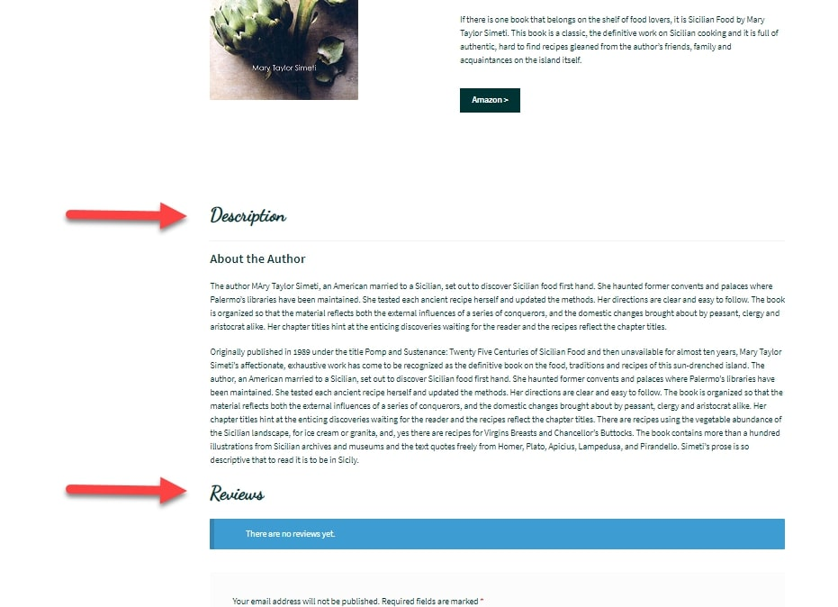 Image showing newer product page display after applying create custom product tabs function in WooCommerce