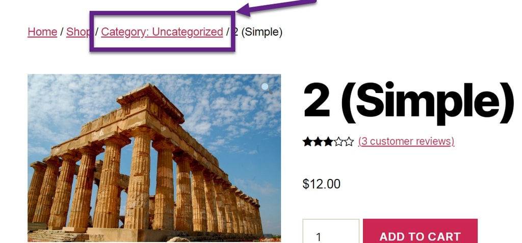 Image suggestion to edit a breadcrumb item by adding prefix to WooCommerce product category